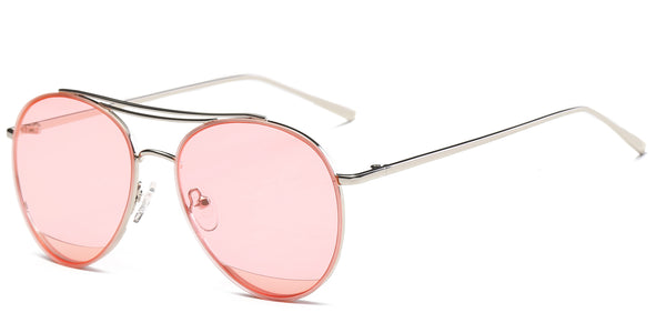 Sakura Main ZILOE Zoom Pink Aviator Metal Sunglasses