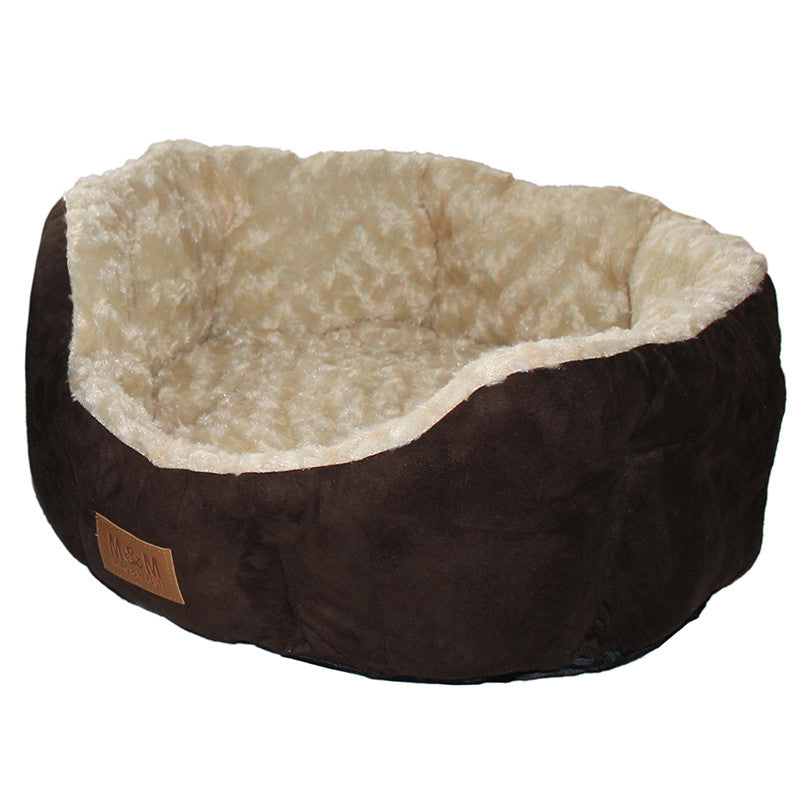 Perfect Suede Cat Beds - Brown/Cream