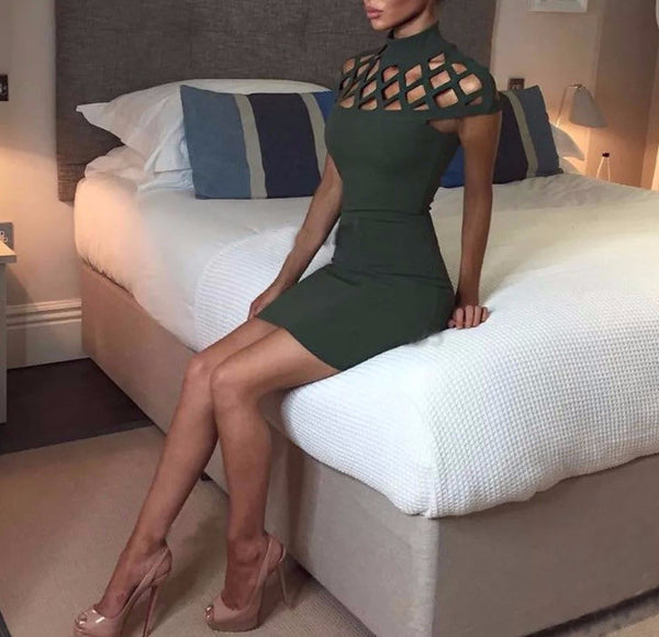 All Dolled Up Emerald Dress