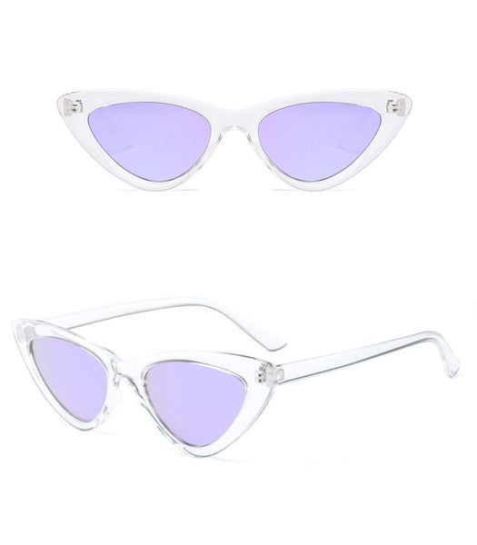 Runway Cateye Sunglasses (Clear Rim)
