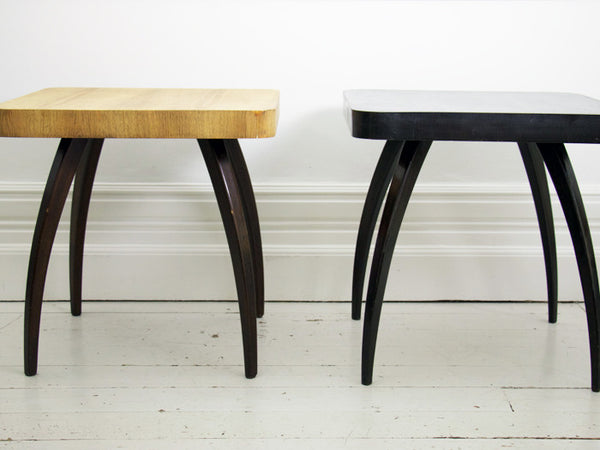 Jindrich Halabala oak spider side table