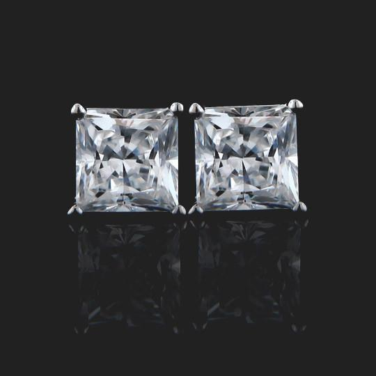 two 1.0ct Princess cut diamond hybrids® (2.0ctw) in 14KW