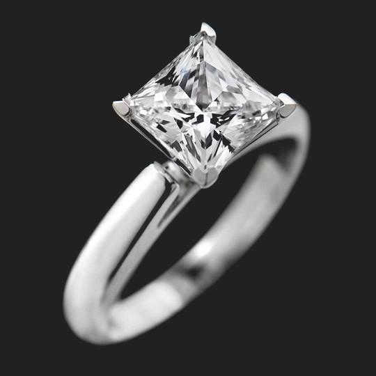 2.0ct Princess cut in 18KW