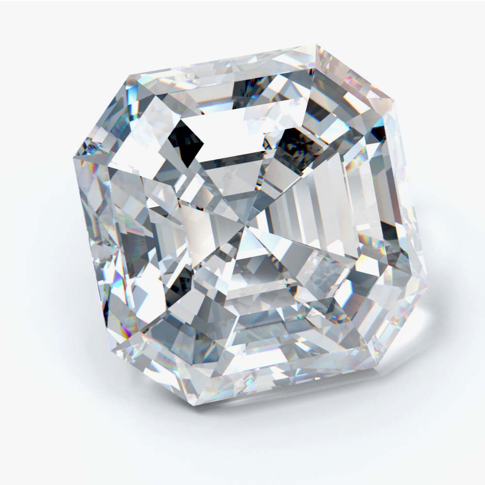 5.03 Carat Asscher Cut Lab Created Diamond