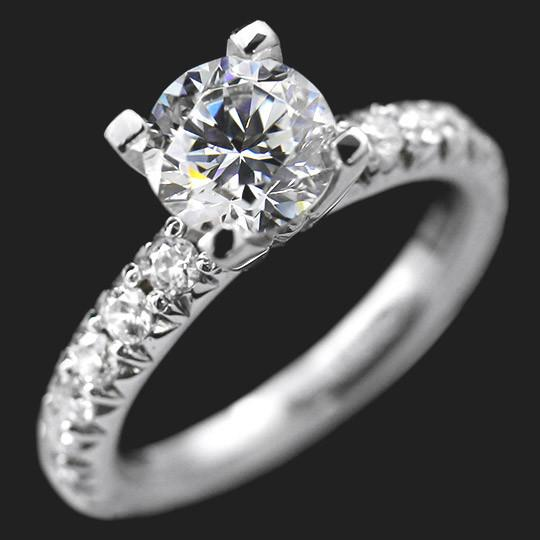 SALE Tyra Engagement Ring - 1.5ct Round Cut Diamond Hybrid®