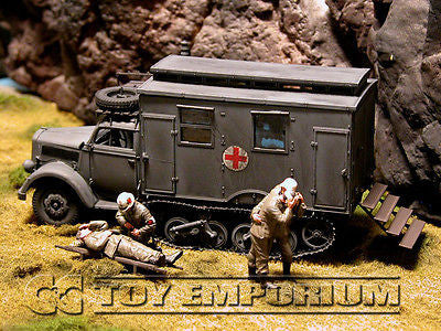 """BRAND NEW"" Custom Built - Hand Painted & Weathered 1:35 WWII Deluxe German ""Sd.Kfz.3 Maultier Ambulance - Normandy"""