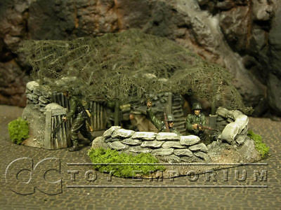 """RETIRED & BRAND NEW"" Build-a-Rama 1:32 Hand Painted WWII Netted Command Post Set (7 Piece Set)"