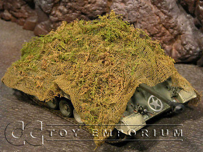 """RETIRED & BRAND NEW"" Build-a-Rama 1:32 Hand Painted WWII Ambush Camo Net"