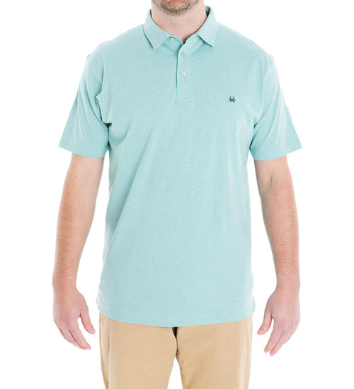 cotton polo - turquoise