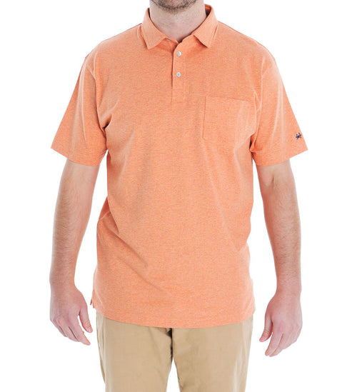 Driftwood Pocket Polo - Coral