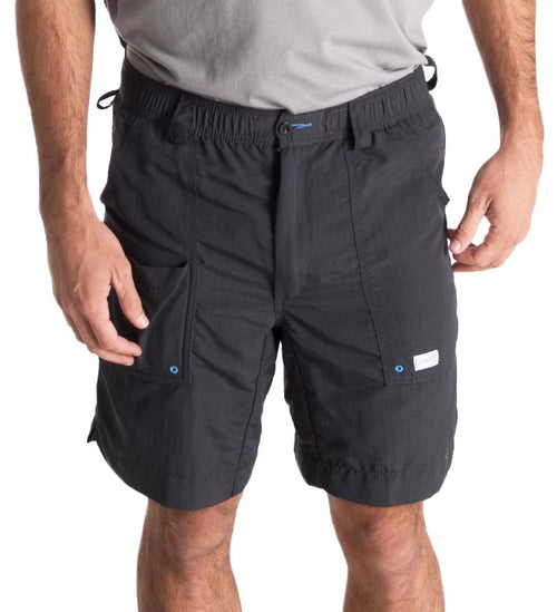 "8.5"" black angler shorts - fishing shorts - casual shorts - beach shorts - swim shorts"
