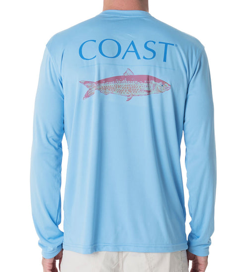 Pink Fish Performance Shirt - Blue