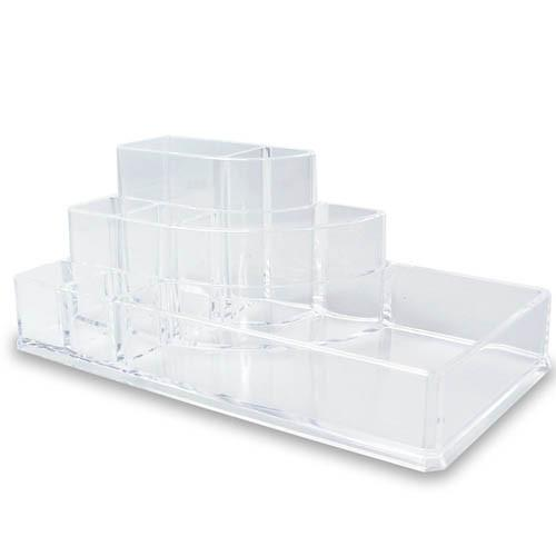 IKEE DESIGN® Small 3-Step Acrylic Makeup Organizer, 8 Compartments