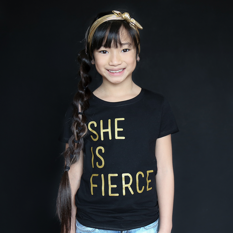 """She Is Fierce"" Fitted Tee - The Talking Shirt"
