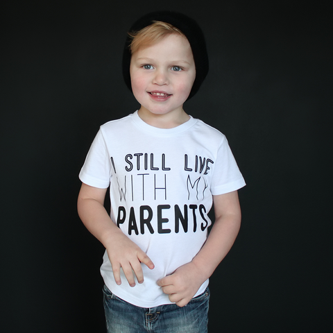 """I Still Live With My Parents"" Unisex Fit Tee - The Talking Shirt"
