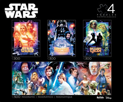 Buffalo Games Star Wars Collector's Edition 4-in-1 Jigsaw Puzzle Multipack