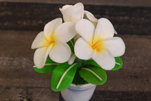 Clay Plumeria Handmade Mini White Plumeria Hawaiian Flower Cute Hand Painted
