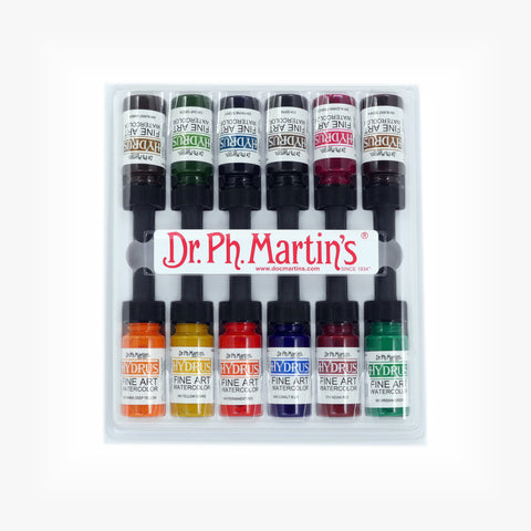 Dr. Ph. Martin's Hydrus Fine Art Watercolor, 0.5 oz, Set of 12 (Set 2)
