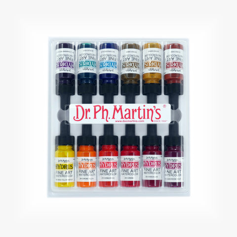 Dr. Ph. Martin's Hydrus Fine Art Watercolor, 0.5 oz, Set of 12 (Set 3)