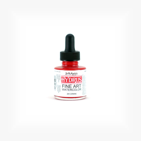 Dr. Ph. Martin's Hydrus Fine Art Watercolor, 1.0 oz, Carmine (28H)