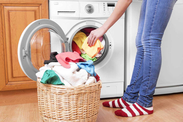Save water by using a front load washer