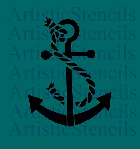 Anchor and Rope Stencil - Various Sizes
