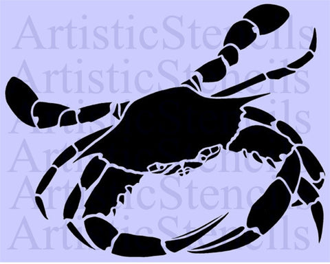 Crab Stencil - Various sizes