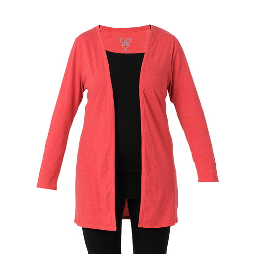 Red Melange Shrug - Deivee