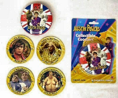 Austin Powers Collectible Coasters with Tin