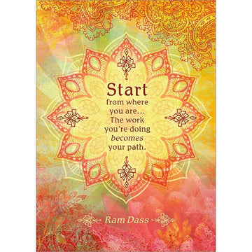 Start from Where You Are. Encouragement Greeting Card (6 Pack)