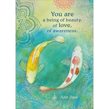 You are a being of beauty, of love, of awareness. Encouragement Greeting Card (6 Pack)