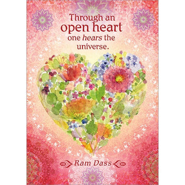 Through An Open Heart Inspirational Greeting Card (6 Pack)