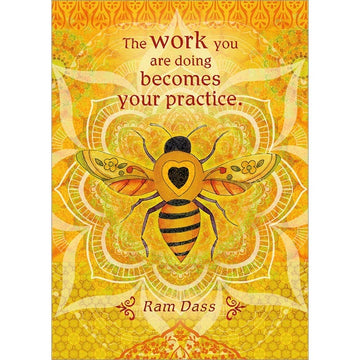 The work you are doing becomes your practice. Inspirational Greeting Card (6 Pack)