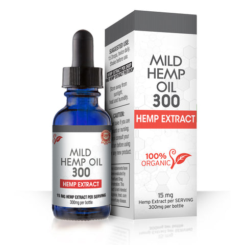 MILD Hemp Oil 300 Dropper