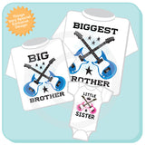 Set of Three, Biggest Brother, Big Brother and Little Sister Shirt or Onesie 02202015g