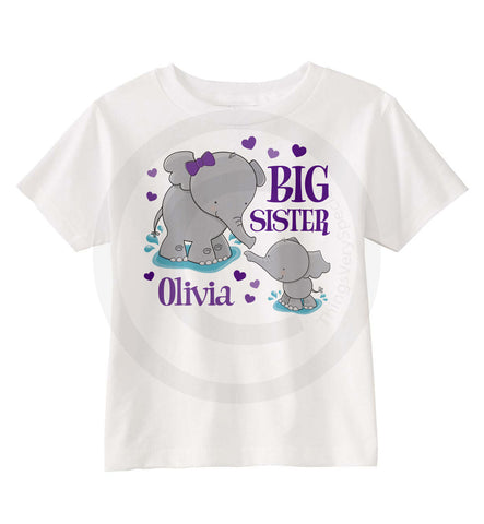 Elephant Big Sister Shirt 04102015f ThingsVerySpecial