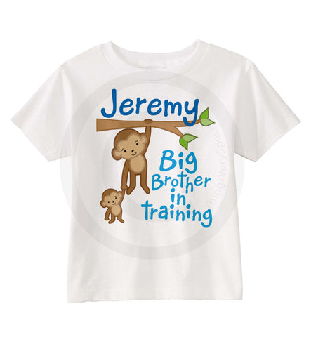 Big Brother in Training Shirt with Monkeys