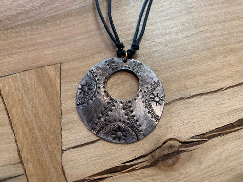 Necklace - circles cord