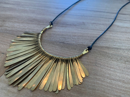 Necklace - fringe cord Long & Wide