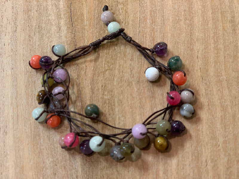 Bracelet - glass stone mixed (5)
