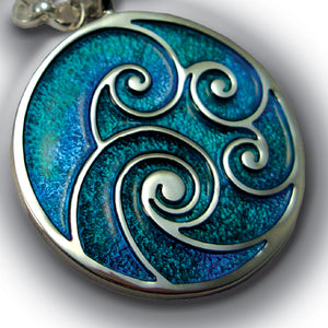 Waves Enamel Pendant - 903P