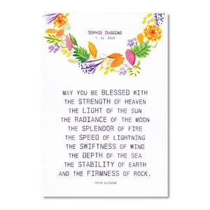 Irish Life Blessings - Watercolor - Customizable Print
