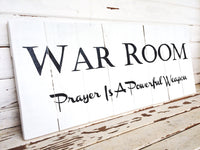 War Room sign; prayer room sign