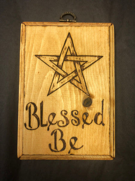 Blessed Be Pentacle Wall Plaque
