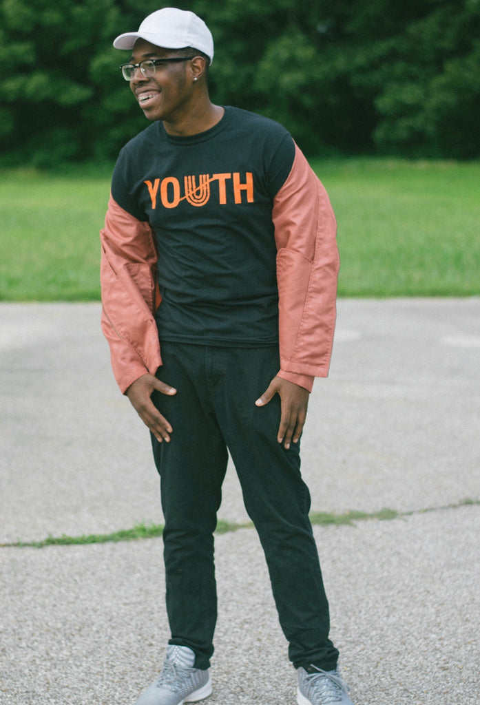 Unapologetic Youth Tee (black/tangerine)