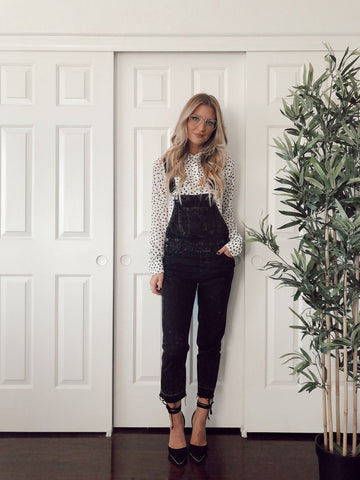 how to style black overalls