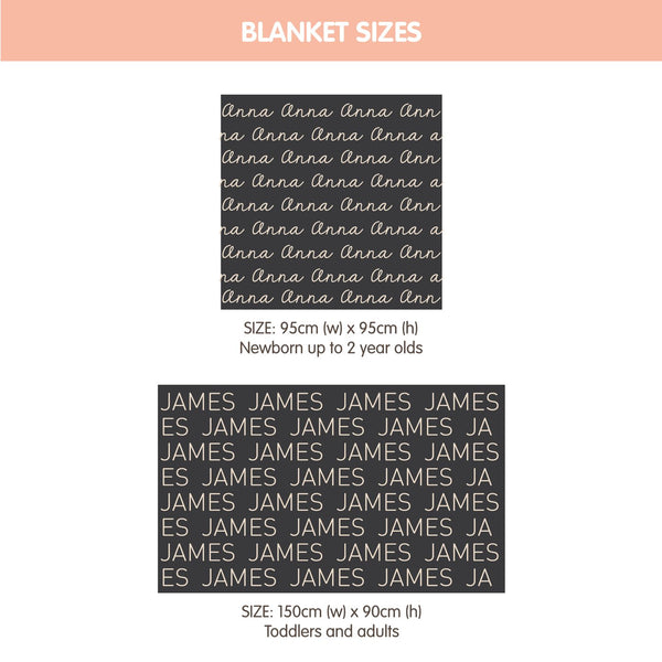 Personalized Blanket (Light Blue Background)