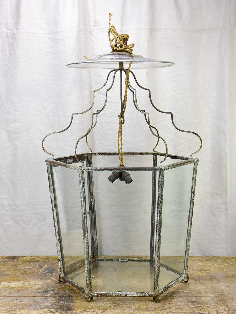 Very large original French lantern from a chateau - 18th Century