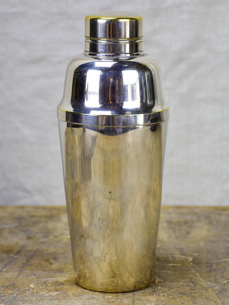 1930's French silver-plate cocktail shaker