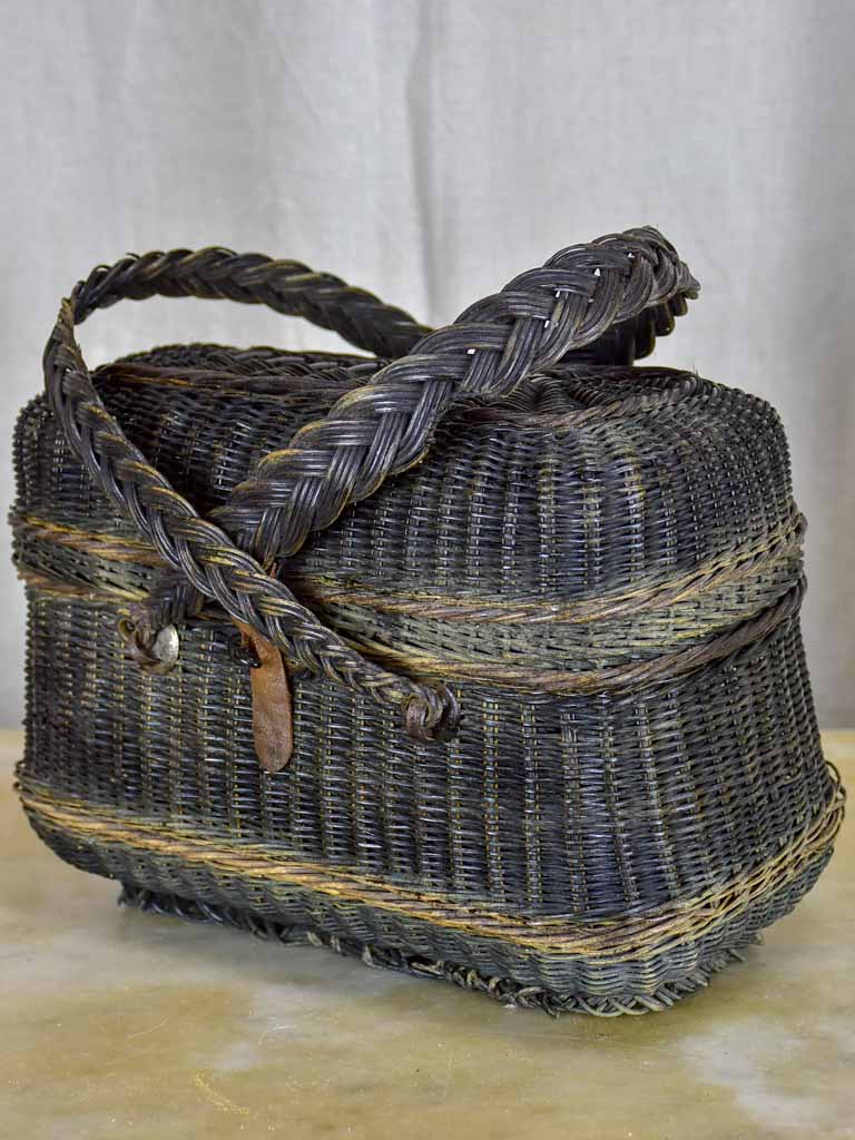 19th Century French woven market basket